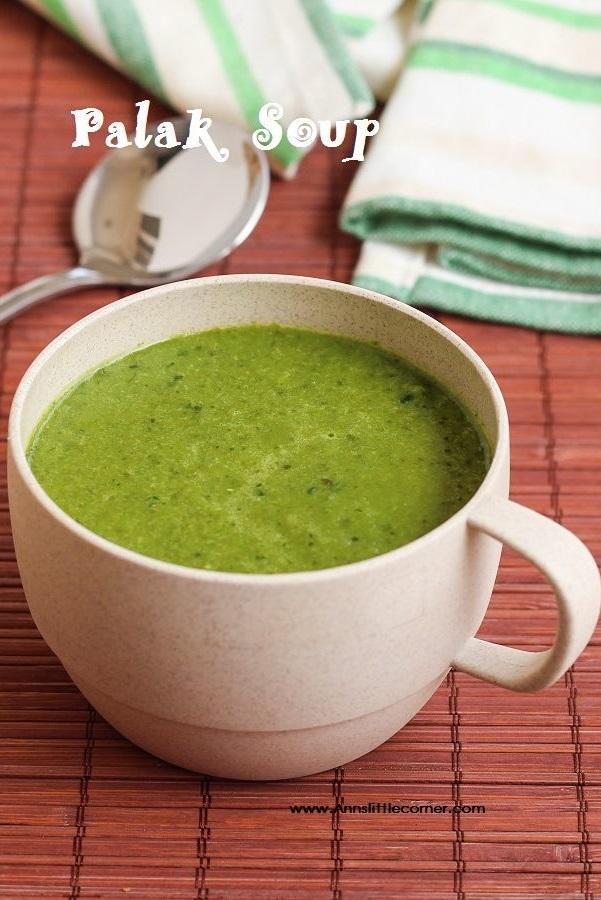 Palak Soup / Spinach Soup