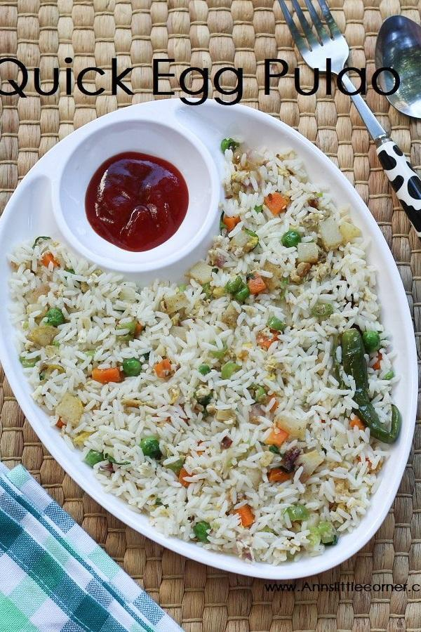 Quick Egg Pulao