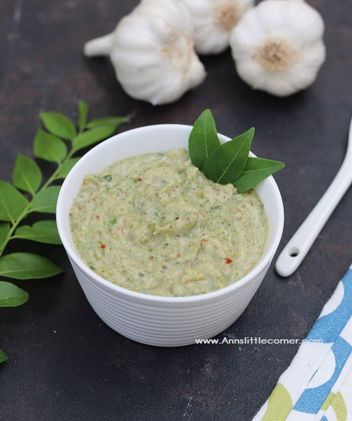 Garlic Curry Leaves Chutney