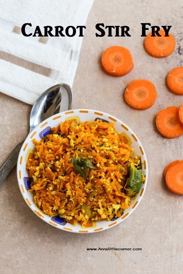 Carrot Stir Fry / Carrot Poriyal