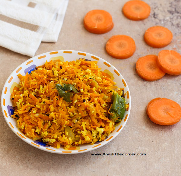 Carrot Stir Fry / Carrot Poriyal