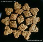 Eggless Wheat Paneer Crackers recipe