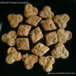 Eggless Wheat Paneer Crackers recipe