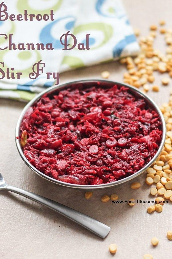 Channa Dal Beetroot StirFry / Beetroot Poriyal