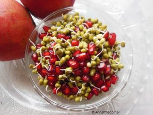 Green Gram Sprout / Pomegranate Green Gram salad
