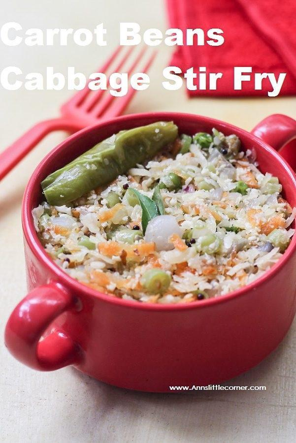 Carrot Beans Cabbage Stir Fr