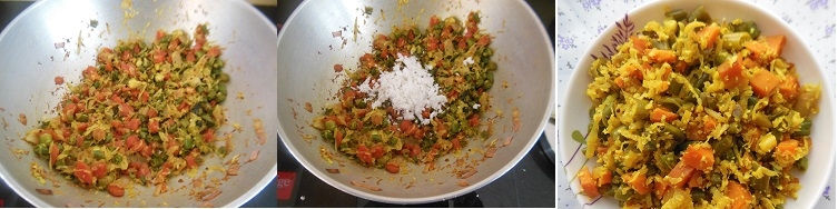 Carrot Beans Cabbage Stir Fry step