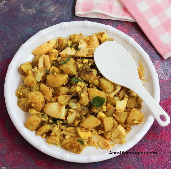 Egg potato stir fry