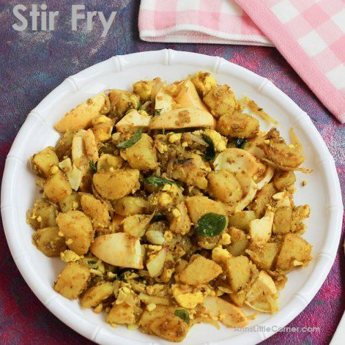 Egg Potato Stir Fry