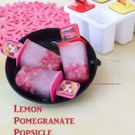 Lemon Pomegranate popsicle main