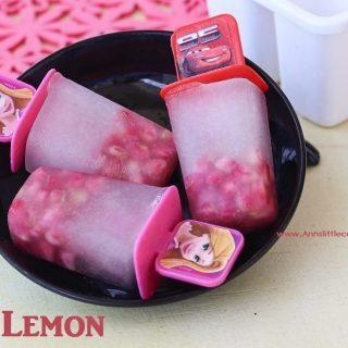 Lemon Pomegranate popsicle main