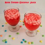 rose tender coconut juice