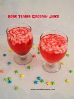 rose tender coconut juice