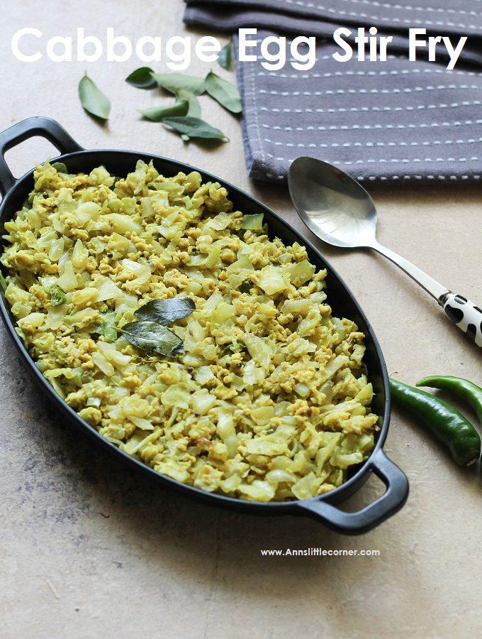 Cabbage Egg Stir Fry