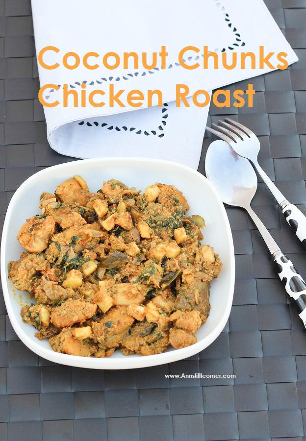 Coconut Chunks Chicken Roast
