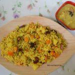 Vegatable Biryani in Pressure Cooker
