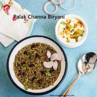 Palak Biryani / Spinach Biryani