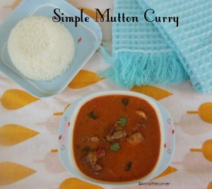Simple Mutton Curry