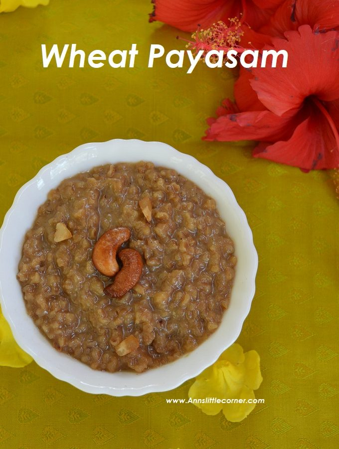 Broken Wheat Payasam / Gothumai Payasam