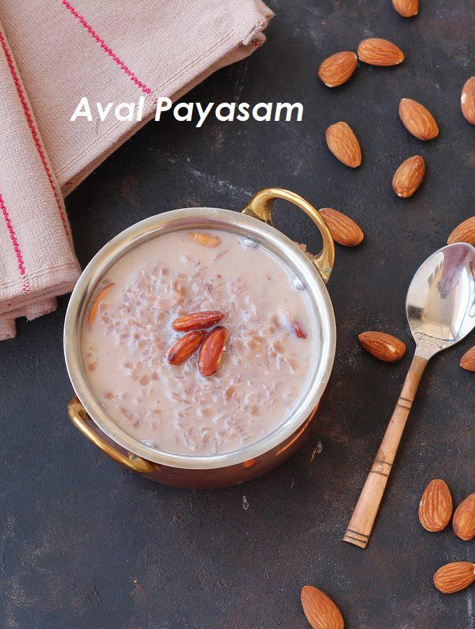 Aval Payasam / Red Rice Poha Payasam