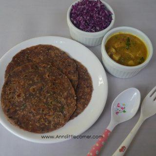 Red Cabbage Paratha / Purple Cabbage Paratha