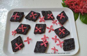 Oats and Chocolate Burfi / Chocolate and Oats Fudge
