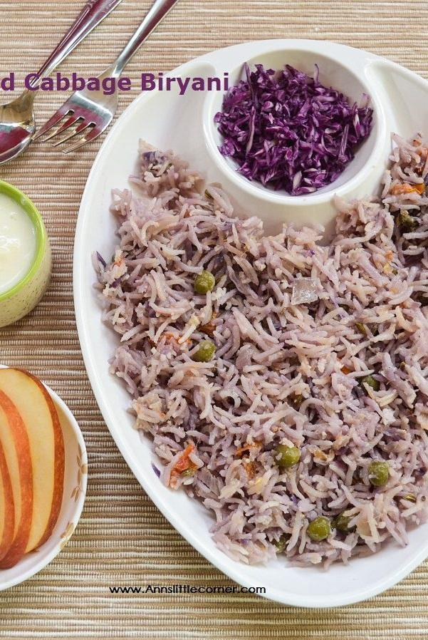 Red Cabbage Biryani