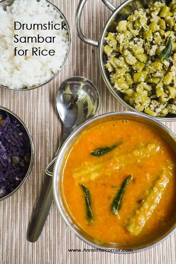 Drumstick sambar for rice