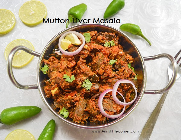Mutton Liver Masala / Eeral Varuval