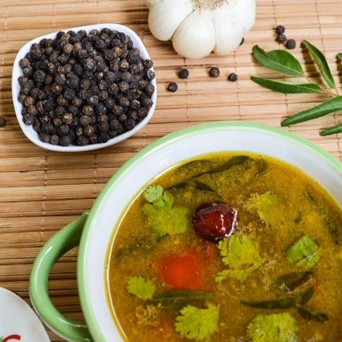 Mutton Rasam / Spicy Tangy Lamb Soup