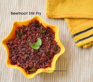 Beetroot Stir Fry