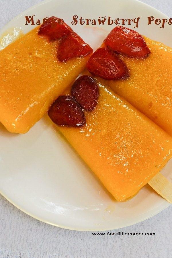 Mango Strawberry Popsicle