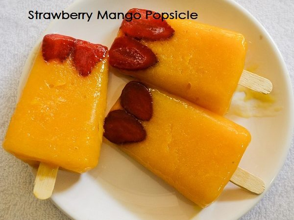 Strawberry Mango Popsicle