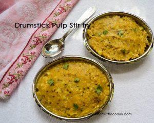 Murungaikai Puttu / Drumstick Pulp stir fry