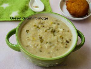 Rice Green Gram Porridge   Arisi Payaru Kanji