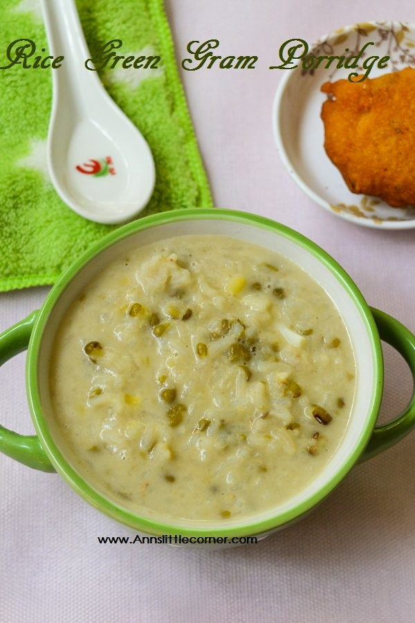 Rice Green Gram Porridge
