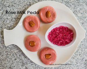 Rose Milk Peda / Rose Milk Fudge