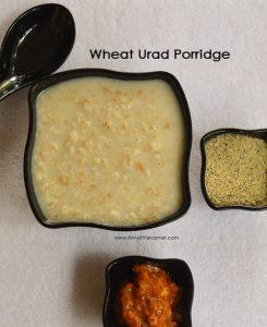 Wheat Urad Dal Porridge   Gothumai Ulundhu Kanji