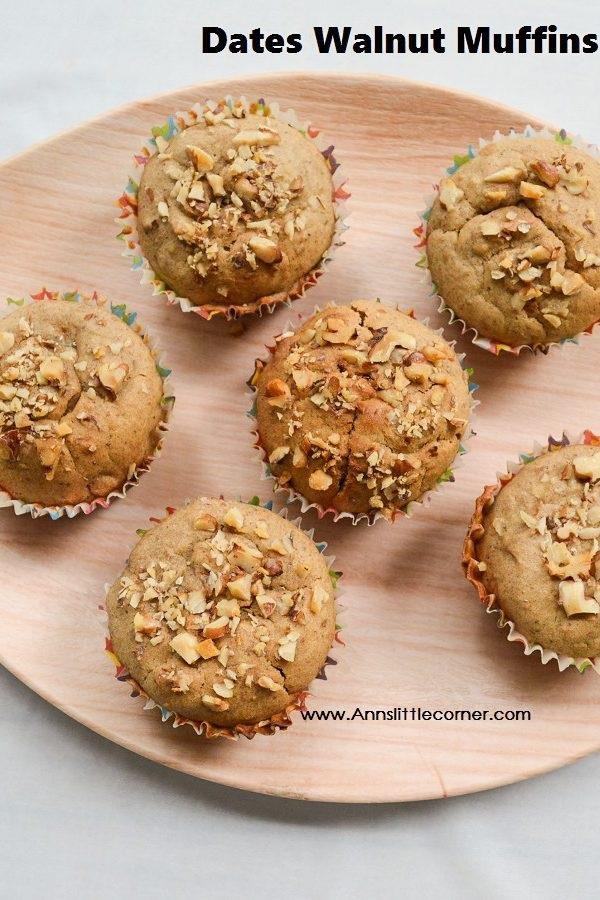 Dates Walnut Muffins
