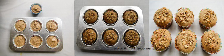 Whole Wheat Dates Walnut Muffins