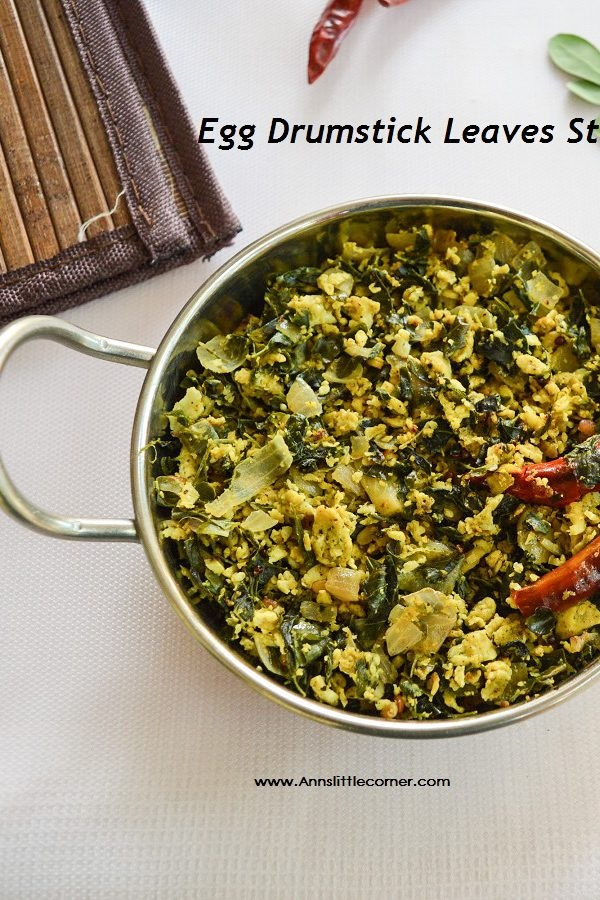 Egg Drumstick Leaves Stir Fry