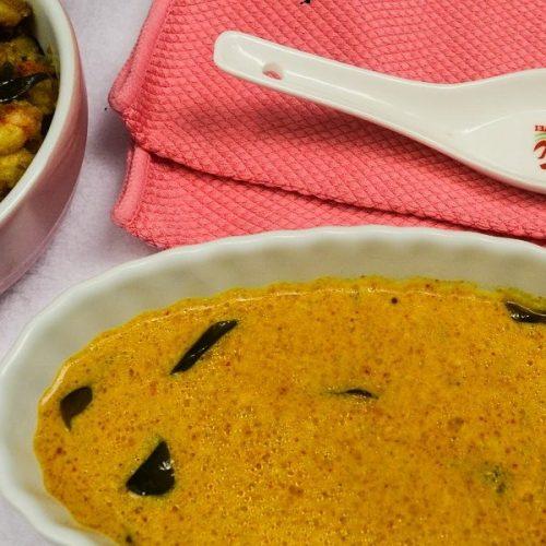 Kanyakumari style Verum Kuzhambu/Vendhaya Kuzhambu / FenuGreek Gravy
