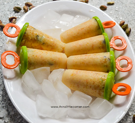 Pistachio Mango Kulfi / Mango Creamsicle