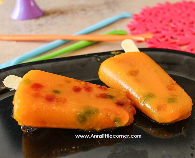 Cantaloupe Mango Popsicle
