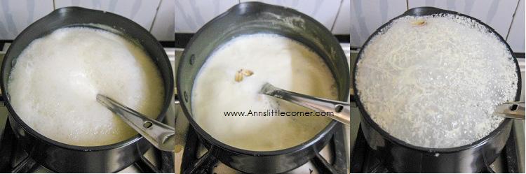 Pistachio Mango Kulfi / Mango Creamsicle step 1