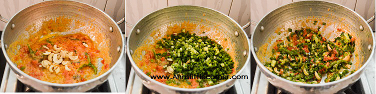 Spring Onion Pulao step 3