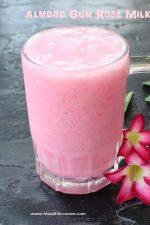 Almond Gum Rose Milk