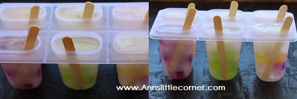 Fruit Jello Popsicle step 3