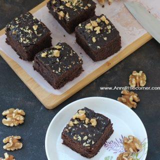 Wheat Walnut Chocolate Brownie