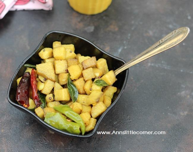 Elephant Yam Stir Fry / Senai Sundal